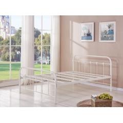 型号:405白 优乐娱乐床铺优乐娱乐双人床 折叠双人床 铁艺双人床 双人板床 金属床 卧室家具 欧博瑞家具