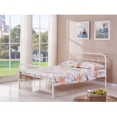 型号:405象牙白 优乐娱乐床铺优乐娱乐双人床 折叠双人床 铁艺双人床 双人板床 金属床 卧室家具 欧博瑞家具