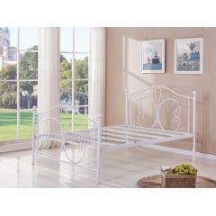 型号:401蝴蝶 优乐娱乐床铺优乐娱乐双人床 折叠双人床 铁艺双人床 双人板床 金属床 卧室家具 欧博瑞家具