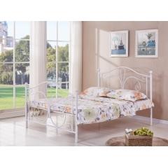 型号:401双尾 优乐娱乐床铺优乐娱乐双人床 折叠双人床 铁艺双人床 双人板床 金属床 卧室家具 欧博瑞家具