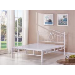 型号:403白双杠 优乐娱乐床铺优乐娱乐双人床 折叠双人床 铁艺双人床 双人板床 金属床 卧室家具 欧博瑞家具