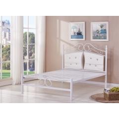 型号:Y-11白 优乐娱乐床铺优乐娱乐双人床 折叠双人床 铁艺双人床 双人板床 金属床 卧室家具 欧博瑞家具