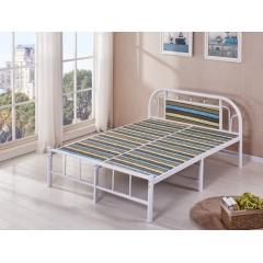 型号:319板床 优乐娱乐床铺优乐娱乐双人床 折叠双人床 铁艺双人床 双人板床 金属床 卧室家具 欧博瑞家具