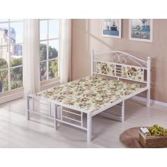 型号:316板床 优乐娱乐床铺优乐娱乐双人床 折叠双人床 铁艺双人床 双人板床 金属床 卧室家具 欧博瑞家具