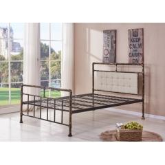 型号:Y-04水暖 优乐娱乐床铺优乐娱乐双人床 折叠双人床 铁艺双人床 双人板床 金属床 卧室家具 欧博瑞家具