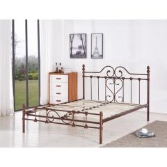 型号:411铜1.5米 优乐娱乐床铺优乐娱乐双人床 折叠双人床 铁艺双人床 双人板床 金属床 卧室家具 欧博瑞家具