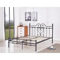 型号:411 1.5米 优乐娱乐床铺优乐娱乐双人床 折叠双人床 铁艺双人床 双人板床 金属床 卧室家具 欧博瑞家具