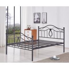 型号:403黑双 优乐娱乐床铺优乐娱乐双人床 折叠双人床 铁艺双人床 双人板床 金属床 卧室家具 欧博瑞家具