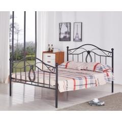 型号:403黑双尾 优乐娱乐床铺优乐娱乐双人床 折叠双人床 铁艺双人床 双人板床 金属床 卧室家具 欧博瑞家具