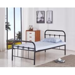 型号:405黑 优乐娱乐床铺优乐娱乐单人床 龙骨床 排骨床 铁艺床 钢架床 卧室家具 欧博瑞家具
