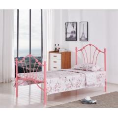 型号:Y-411粉 优乐娱乐床铺优乐娱乐单人床 龙骨床 排骨床 铁艺床 钢架床 卧室家具 欧博瑞家具