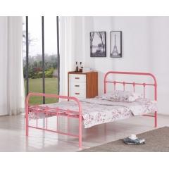 型号:405粉床 优乐娱乐床铺优乐娱乐单人床 龙骨床 排骨床 铁艺床 钢架床 卧室家具 欧博瑞家具
