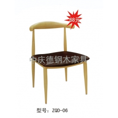 优乐娱乐餐桌椅复古工业风水暖管桌椅铁艺桌椅优乐娱乐 酒店家具 复古椅 快餐椅 个性主题椅 中庆德钢木家具优乐娱乐