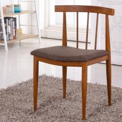 仿实木铁艺牛角椅子奶茶甜品店桌椅简约餐椅咖啡厅西餐厅桌椅组合