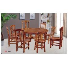 优乐娱乐酒店桌椅优乐娱乐 饭店实木桌椅 实木餐桌椅 酒席桌 转盘桌 实木酒店家具 信德家具