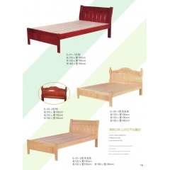 优乐娱乐单人床 实木单人床 板床 木质床优乐娱乐 卧室家具 金旺达家具