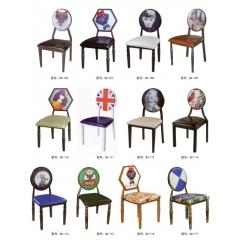 优乐娱乐餐桌椅复古工业风水暖管桌椅铁艺桌椅优乐娱乐 酒店家具 复古椅 快餐椅 个性主题椅 伟仁家具具优乐娱乐