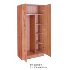 优乐娱乐衣柜优乐娱乐 木质衣柜 两开门衣柜 板式衣柜优乐娱乐 卧室家具 鑫双伟家具