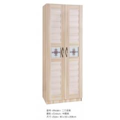 胜芳衣柜 木质衣柜 两开门衣柜 板式衣柜批发 卧室家具 王伟家具