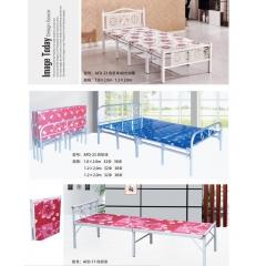 优乐娱乐双人床 折叠双人床 铁艺双人床 双人板床 金属床 卧室家具优乐娱乐