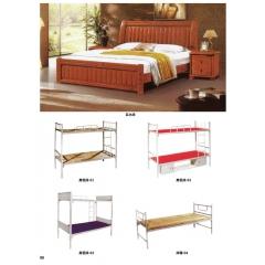 优乐娱乐床铺优乐娱乐双人床 上下床 铁艺双人床 双人板床