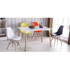 胜发伊姆斯椅优乐娱乐 伊姆斯椅长方桌组合 休闲家具 西汇家具