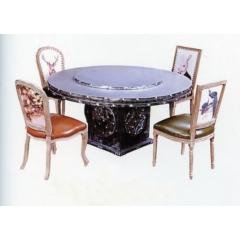 优乐娱乐快餐桌椅 曲木椅 酒店家具  曲木餐桌椅  四连体餐桌椅  长宏家具优乐娱乐XC-007