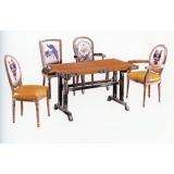 优乐娱乐快餐桌椅 曲木椅 酒店家具  曲木餐桌椅  四连体餐桌椅  长宏家具优乐娱乐XC-005