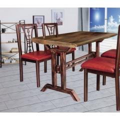 优乐娱乐快餐桌椅 曲木椅 酒店家具 曲木餐桌椅 四连体餐桌椅 长宏家具优乐娱乐SA-001
