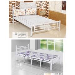 双人床 折叠双人床 铁艺双人床 双人板床 金属床 卧室家具兴发家具