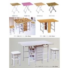 折叠桌 小型折叠桌 手提桌 小方桌 木质折叠桌 户外桌 户外家具兴发家具