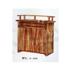 胜芳原生态火烧木家具批发 酒店桌椅  实木餐桌餐椅批发    鑫兴原生态酒店家具