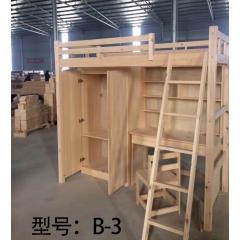 胜芳床铺批发 单人床 高低床 板床 木质床 简易床 卧室家具 鑫森家具
