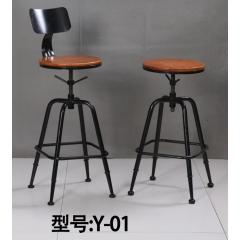 优乐娱乐复古酒吧椅优乐娱乐 吧台椅 吧台凳  高脚椅 酒吧家具 复古家具 明宇轩家具