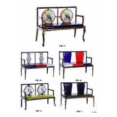 优乐娱乐家具优乐娱乐 沙发卡座 主题餐厅 美式loft工业风 餐椅 铁制椅子 快餐店复古椅子 仓禄源家具