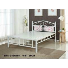 胜芳床铺批发欧式床 双人床 折叠双人床 铁艺双人床 双人板床 金属床 卧室家具 欧博瑞家具