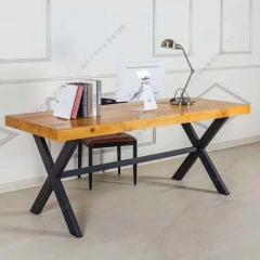 胜芳家具 批发办公桌 会议桌 餐桌 餐台 桌面 牛角椅 松木办公桌椅组合  松木家具  森源松木家具