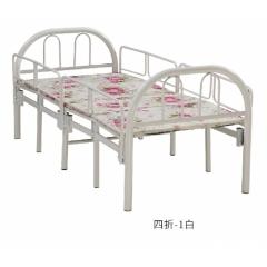 胜芳床铺批发 实木折叠床 折叠双人床 铁艺双人床 双人板床 金属床 卧室家具 鑫邦达家具