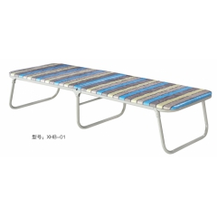胜芳床铺批发 折叠床 单人床 铁艺折叠床 双人床 四折床 午休床 折叠椅 行军床 简易床 铁质板床 板床批发  星火家具