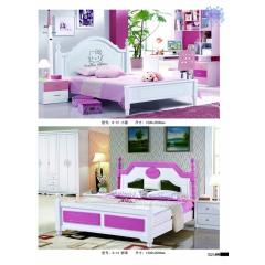 胜芳床铺批发 双人床 实木床 折叠双人床 木质双人床 双人板床 北欧家具 卧室家具 恒泰家具