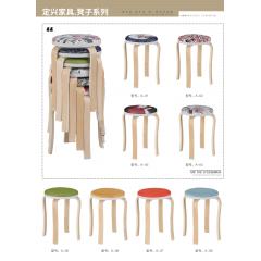 胜芳批发铁腿凳子 木质凳子 四腿凳子三腿凳子 铁质凳子 套凳 方凳 简易家具 定兴家具