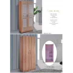胜芳衣柜 木质衣柜 两开门衣柜 板式衣柜批发 卧室家具  森佳家具