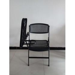 9021写字板折叠椅黑色 灰色 胜芳折叠椅批发 胜芳折椅批发 折叠椅 家用会客椅 餐椅 电脑椅 桥牌椅 莲轩家具
