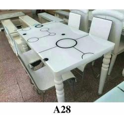 胜芳餐桌 玻璃餐桌 玻璃餐台 小户型餐桌 钢化玻璃餐桌 热弯玻璃餐桌 时尚简约 餐厅家具 餐厨家具 瑞铎家具