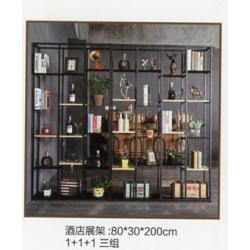 胜芳铁艺置物架批发 隔断花架 书架  储物柜 门厅柜  工业风格loft书架    圣士达家具