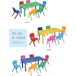 胜芳家具批发桌椅 幼儿园塑料桌椅  幼儿长方桌吃饭学习桌子  幼儿园专用课桌椅  鑫凯家具
