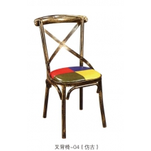 胜芳复古铁艺餐椅批发 快餐餐椅 太阳椅 牛角椅 A字椅 叉背椅 围椅 太阳凳 時尚休闲椅 钢木家具 餐饮店家具 伟旺家具