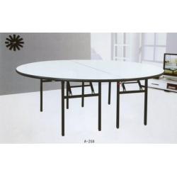 胜芳酒店桌批发 饭店桌 餐桌 圆桌 酒席桌 实木圆桌 可折叠酒店桌 木制家具 酒店家具 和合家具