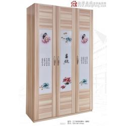 胜芳衣柜 防尘衣柜 现代 简约 经济 板式 木质衣柜批发 致富家具厂衣柜批发