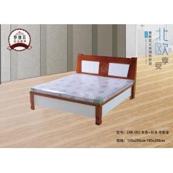胜芳床铺批发 双人床 实木床 折叠双人床 木质双人床 板床 北欧家具 卧室家具 罗纳尔家具